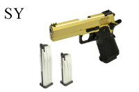 SY CNC Metal Slide Hi-Capa 4.3 GBB Pistol w/ TWO Mags (Gold)
