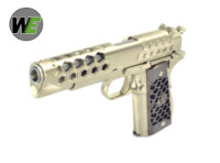 WE Hex Cut Signature 1911 GBB Pistol (Silver)
