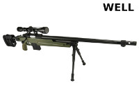 WELL MB4415D Spring Bolt Action Sniper Rifle (Scope & Bipod, OD)