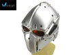 "WOSport ""Terminator"" Tactical Fan Helmet (Silver, Orange Lens)"
