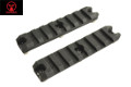 AMOEBA 3.5 Inch 7 Slots 20mm Rail For M-LOK Handguard (2pcs, BK)