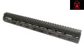 AMOEBA Metal 378mm M-LOK Handguard For M4 / M16 AEG (BK)