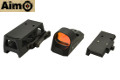 AIMO ROMEO3 Red Dot Sight w/ 1913 & QD High Mount (Black)