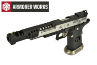 Armorer Works .38 SuperComp 4.5mm Steel Pellet CO2 Pistol 2-Tone