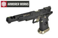 Armorer Works .38 SuperComp 4.5mm Steel Pellet CO2 Pistol(Black)