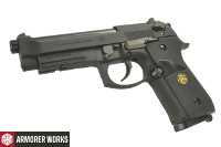 Armorer Works M9A1 CO2 Blowback Pistol (BK, 4.5mm Steel Pellets)