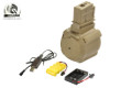 Battleaxe 1400rds Electric Drum Mag For G36 AEG (USB Charger)