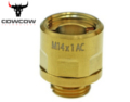 COWCOW A01 11mm to 14mm Stainless Steel Silencer Adapter (Gold)