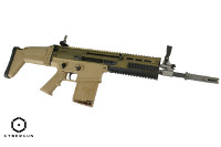 Cybergun FN Herstal Licensed SCAR-H CQC GBB Battle Rifle (Tan)