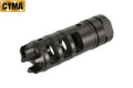 CYMA Steel AK Type DRAGON Style Muzzle Brake (Black, 14mm CCW)