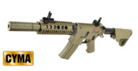 CYMA M4 AEG Rifle with Dummy silencer (Tan , CM513)