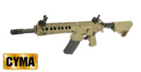 CYMA M4A1 203mm URX III Handguard Carbine AEG Rifle (CM616,Tan)