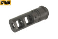 CYMA Steel AR Type SFMB Style Muzzle Brake (Black, 14mm CCW)