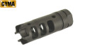 CYMA Steel AR Type DRAGON Style Muzzle Brake (Black, 14mm CCW)