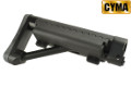 CYMA Maritime II Fixed Stock For M4 / M16 AEG Rifle (Black)