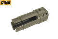 CYMA Steel AR Type KAC 3-Prong Style Flash Hider (BK, 14mm CCW)