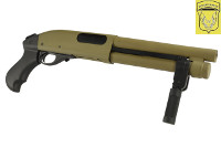 Golden Eagle M870 SUPER-SHORTY Gas Pump Action Shotgun (Tan)