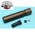 G&P 14mm CW/CCW BIO Infected Silencer (Sand)
