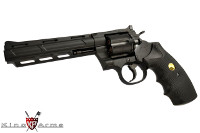 King Arms Python .357 Magnum CO2 Revolver (Black, 6-inch Barrel)