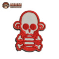 MSM SkullMonkey Stumpy Patch (White and Red)