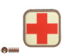 "MSM PVC ""MEDIC SQUARE"" Velcro Patch (Medical, 2-inch)"