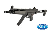 SRC MP5A5 CO2 SMG Rifle (Black, Steel Receiver)