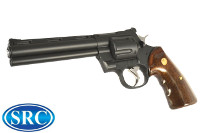 SRC Python Gas Revolver (Black, Imitation Wood Grip)
