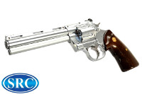 SRC Python Gas Revolver (Silver, Imitation Wood Grip)