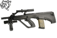 Snow Wolf Steyr AUG A1 Compact Tactical AEG Bullpup Rifle (BK)