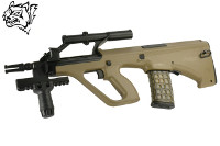 Snow Wolf Steyr AUG A1 Compact Tactical AEG Bullpup Rifle (Tan)