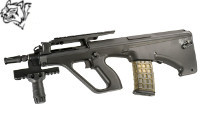 Snow Wolf Steyr AUG A2 Compact Tactical AEG Bullpup Rifle (BK)
