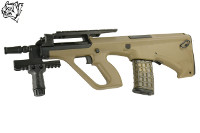 Snow Wolf Steyr AUG A2 Compact Tactical AEG Bullpup Rifle (Tan)