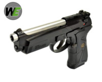WE M92F Semi GBB Pistol (Silver Barrel , Black Frame)