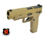 ASIA Electric Guns Alloy Slide F17 GBB Pistol (Tan)