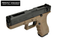 ARMY G18C Full-Auto GBB Pistol (Dark Earth , Marking Version)
