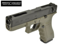 ARMY G18C Full-Auto GBB Pistol (Oilve Drab , Marking Version)