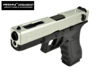 ARMY G18C Full-Auto GBB Pistol (Silver , Marking Version)