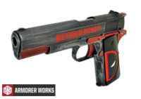 Armorer Works classic 1911 GBB Pistol (red and black)