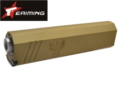 "EAIMING 7.06"" 14mm CW SilencerCo Osprey Silencer (Tan)"