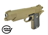 Galaxy Alloy 1911 Rail Spring gun Pistol (Dark Earth)