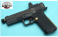 G&P EMG Custom CNC Steel Blu GBB Pistol with RMR Sight (Black)