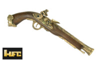 HFC 18th Century Pirate Gas Flintlock Pistol (Gold)
