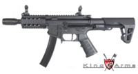 King Arms PDW 9mm AEG SBR SD (Black)
