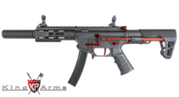 King Arms PDW 9mm AEG SBR SD (Black/Red)
