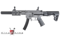 King Arms PDW 9mm AEG SBR SD (Grey)