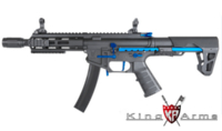 King Arms PDW 9mm SBR M-Lok (Blue/Black)