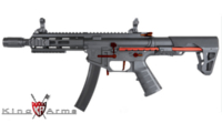 King Arms PDW 9mm SBR M-Lok (Black/Red)