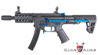 King Arms PDW 9mm SBR Shorty AEG Rifle (Blue Black)
