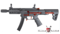 King Arms PDW 9mm SBR Shorty AEG Rifle (Red Black)