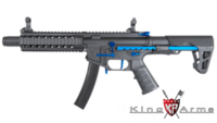 King Arms PDW 9mm SBR Long AEG Rifle (Blue, Black)